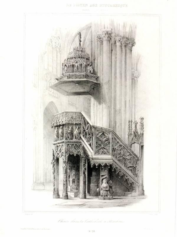 Stra burg strasbourg chaire cathedrale m nster for Hauser innenansicht